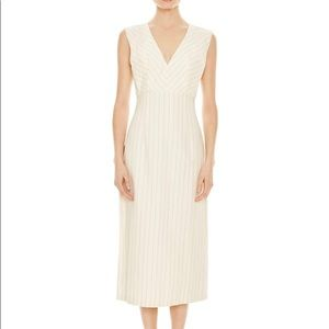 Sandro Noaim Striped Midi Dress - White